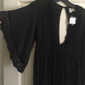 NWT baby doll boho flare sleeve mini dress